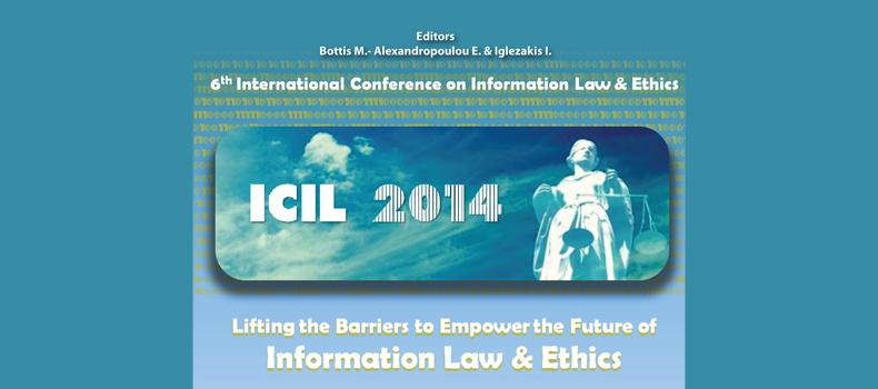 6th International Conference on Information Law - Έκδοση Πρακτικών Συνεδρίου